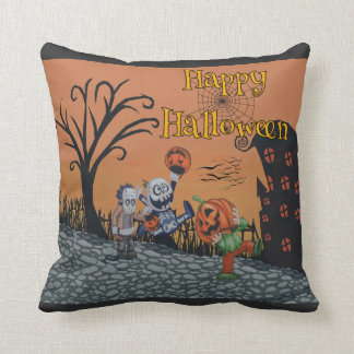 Happy Halloween Trick-or-Treat Edition Throw Pillow