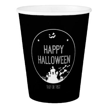 Halloween Themed Happy Halloween Trick Or Treat Paper Cup