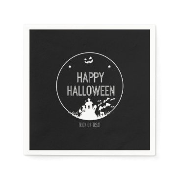 Halloween Themed Happy Halloween Trick Or Treat Paper Napkin