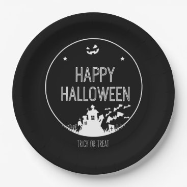 Halloween Themed Happy Halloween Trick Or Treat Paper Plate