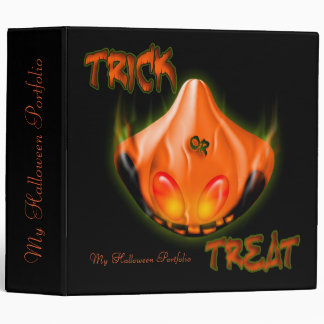 Happy Halloween Trick or Treat Portfolio Binder