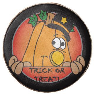 Happy Halloween Trick or Treat Pumpkin Chocolate Covered Oreo