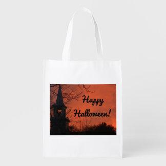 Happy Halloween Trick Or Treat Reusable Grocery Bag