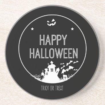 Halloween Themed Happy Halloween Trick Or Treat Sandstone Coaster