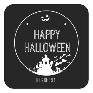 Halloween Themed Happy Halloween Trick Or Treat Square Sticker