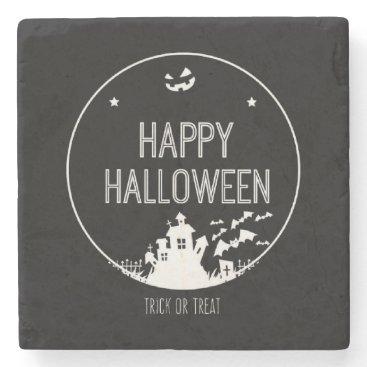 Halloween Themed Happy Halloween Trick Or Treat Stone Coaster
