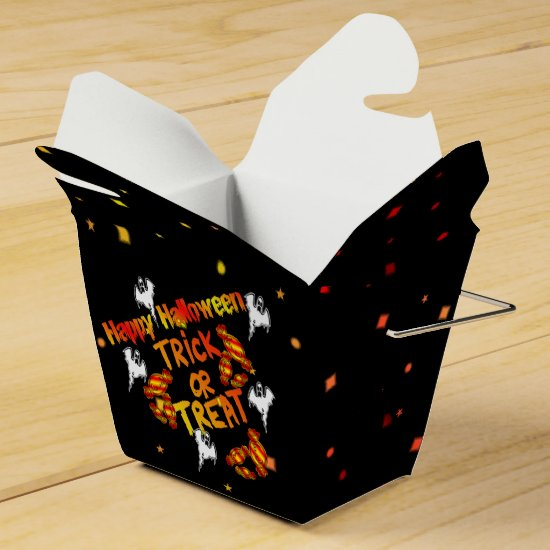 Happy Halloween Trick Or Treat Take-Out Favor Box