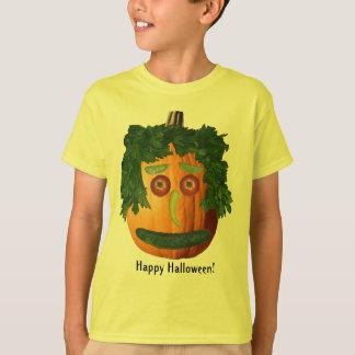 Happy Halloween - Uncut Pumpkin Face Kids Shirt