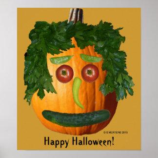 Happy Halloween - Uncut Pumpkin Face Poster
