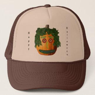 Happy Halloween - Uncut Pumpkin Face Trucker Hat