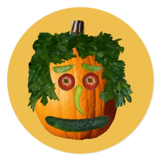 Happy Halloween - Uncut Pumpkin Invitations