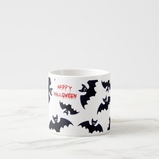 Happy Halloween Vampire Bats 6 Oz Ceramic Espresso Cup