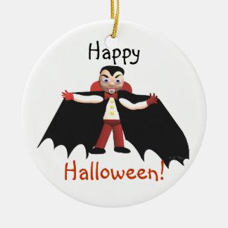 Happy Halloween Vampire Ceramic Ornament