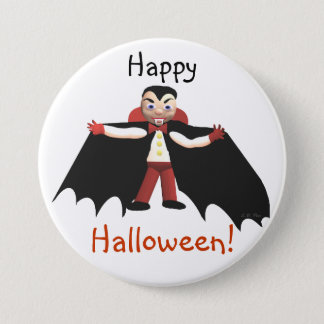 Happy Halloween Vampire Pinback Button