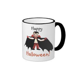 Happy Halloween Vampire Ringer Mug