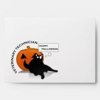 Happy Halloween vet tech envelope