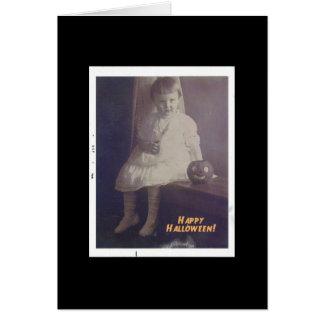 Happy Halloween  Vintage Girl Card