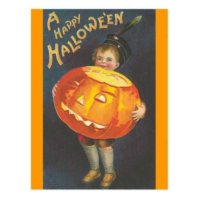 Happy Halloween - Vintage Halloween Art Postcard
