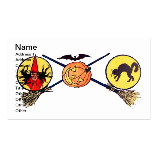 Happy Halloween (Vintage Halloween Card) Double-Sided Standard Business Cards (Pack Of 100)