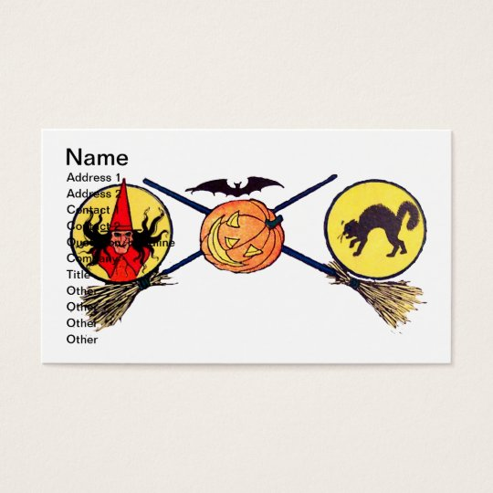 Happy Halloween (Vintage Halloween Card) Business Card