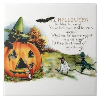 Happy Halloween Vintage Halloween Postcard Art Ceramic Tile