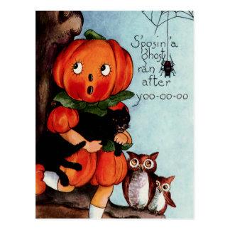 Happy Halloween Vintage Illustration Post Cards