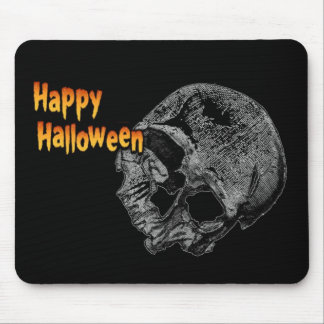 Happy Halloween Vintage Skull Mouse Pads