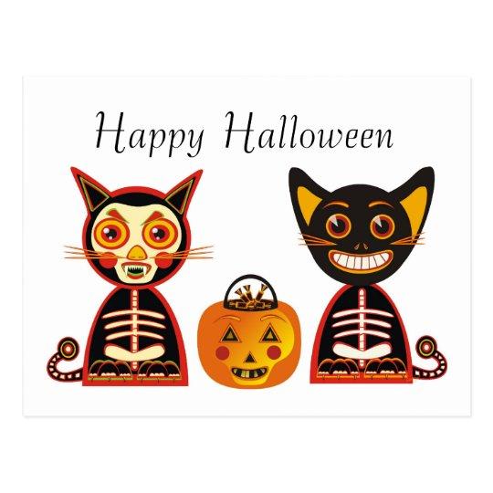 Happy Halloween Vintage Style Postcard