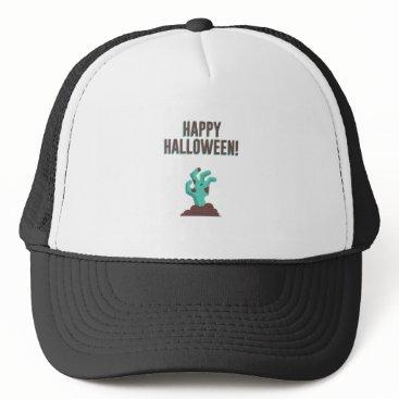 Halloween Themed Happy Halloween Walking Dead Zombie Corpse Design Trucker Hat