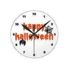 Happy Halloween Wallclocks