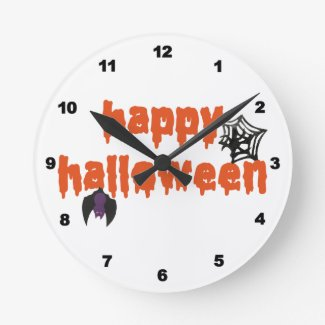 Happy Halloween Wallclocks