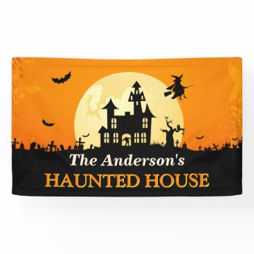 Halloween Themed Happy Halloween - Welcome to Creepy Haunted House Banner