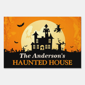 Happy Halloween - Welcome to Creepy Haunted House Lawn Sign