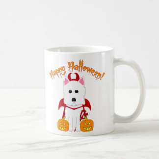 Happy Halloween Westie Devil Coffee Mug