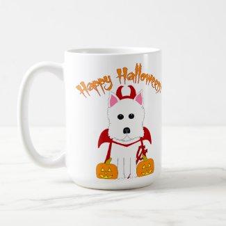 Happy Halloween Westie Devil mug