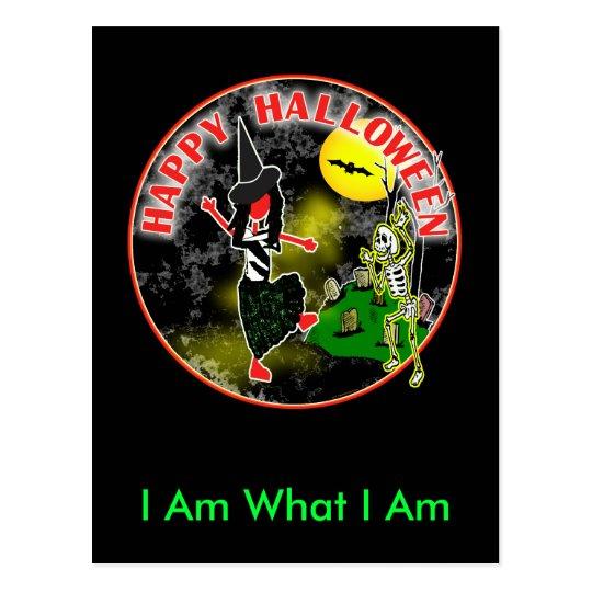 Happy Halloween Whimsical Design Postcard