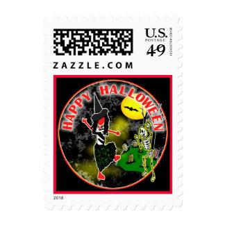 Happy Halloween Whimsical Design Stamp