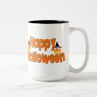 Happy Halloween Whimsical Text Mug