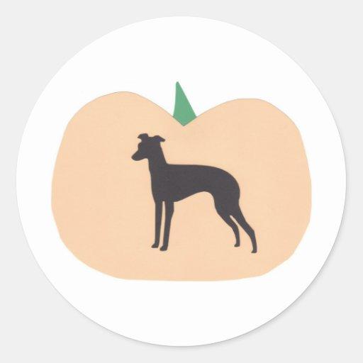 Happy Halloween Whippet Sticker