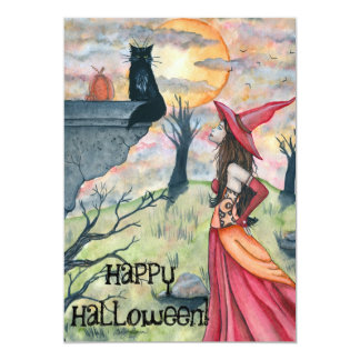 Happy Halloween! Wiggles and the Witch Invitation