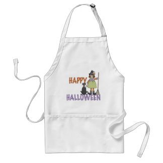Happy Halloween Witch and Cat Apron