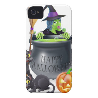 Happy Halloween Witch and Cauldron iPhone 4 Case-Mate Cases
