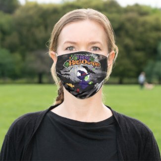 Witch Bats Ghosts Happy Halloween Cloth Face Mask