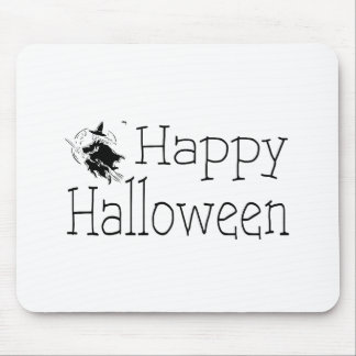 Happy Halloween Witch Broom Stick Mouse Pads