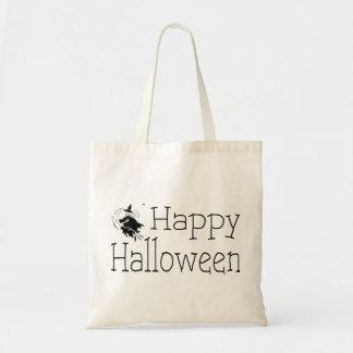 Happy Halloween Witch Broom Stick Tote Bag