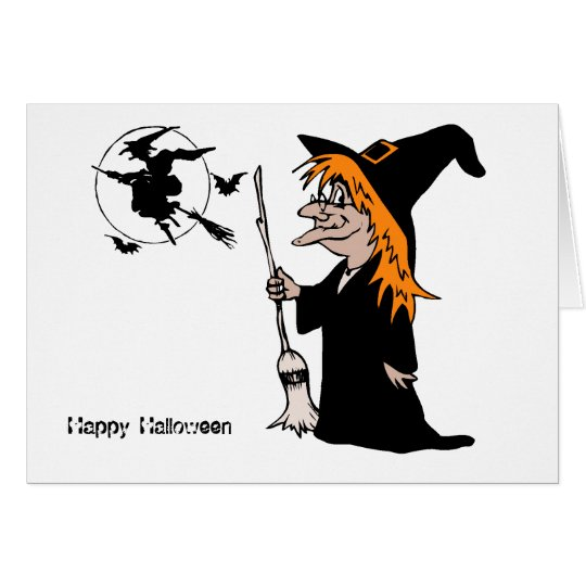 Happy Halloween Witch Card