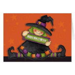 Happy Halloween Witch - Greeting Card