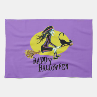 Happy Halloween Witch Towels