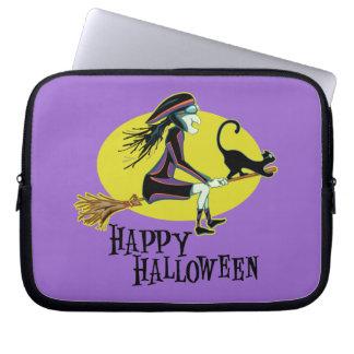 Happy Halloween Witch Laptop Computer Sleeve