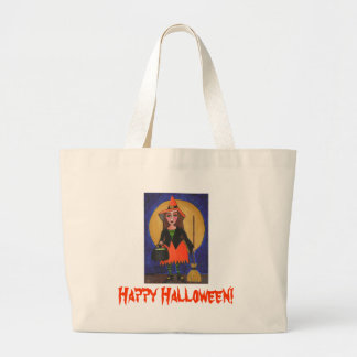 Happy Halloween!  Witch/Moon candy tote Bag